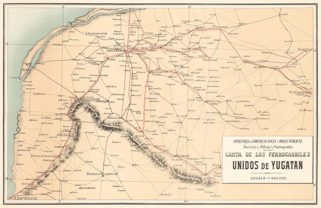 Red de ferrocarriles en Yucatán
