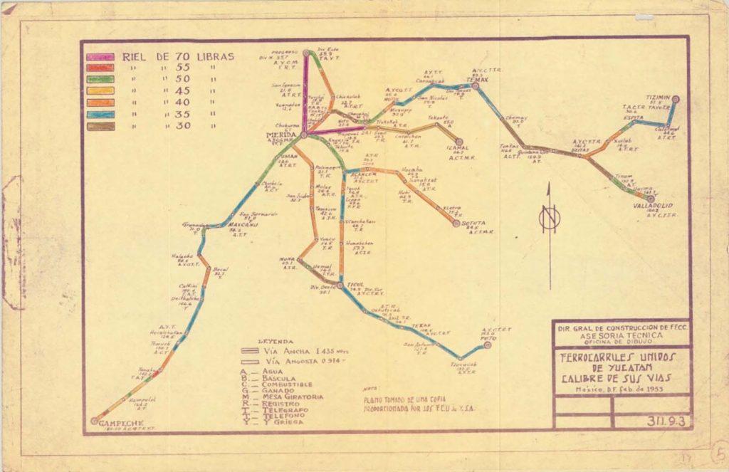Ferrocarriles Unidos de Yucatán.